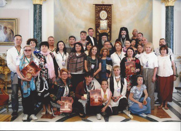Делегацията на АБУЧ на среща с Иерусалимския патриарх