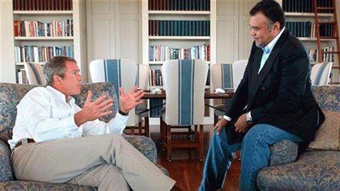 Принц Бандар и Джордж Буш