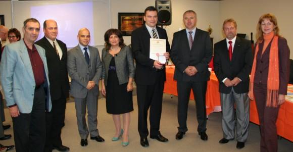 """Награждаване на Българска евангелска църква """"Нов живот"""""""