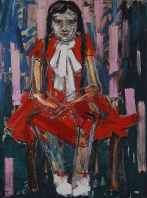 """Йона Тукусер, """"Момиче в червена рокля"""""""