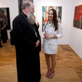 Йона Тукусер на откриването на изложбата