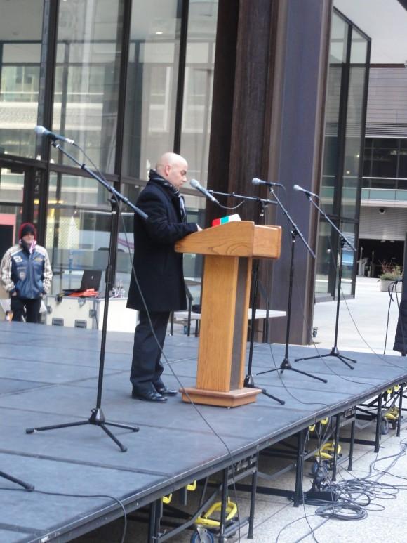 Поздравлението на Генералния консул в Чикаго Симеон Стоилов