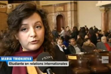 Мария Трионджиева в репортажа на rtbf.be