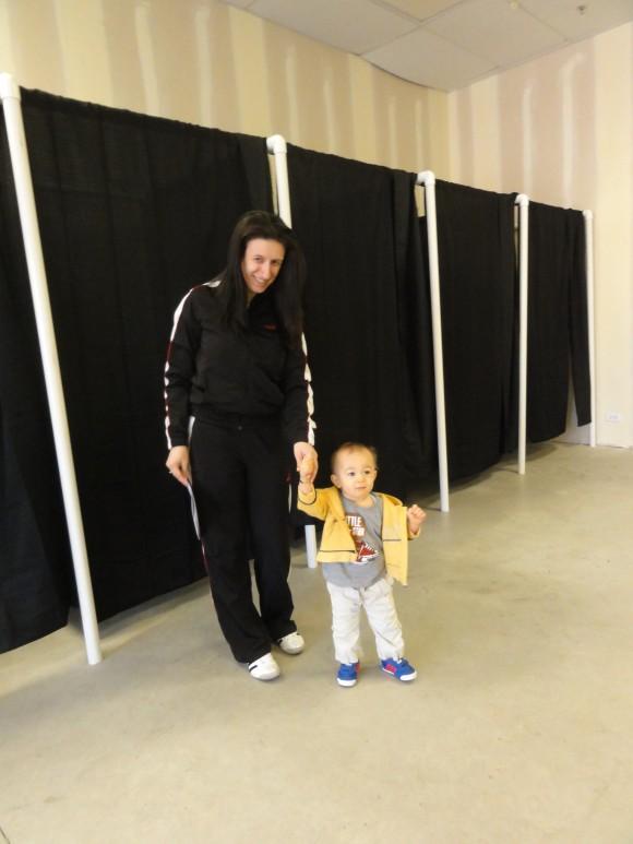 Любомира Пънева с едногодишния Кристофър