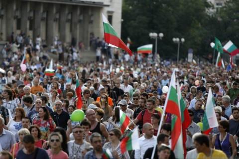 Протестът в София. Снимка: Ройтерс