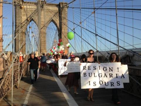 Протестът на Бруклинския мост. Снимка: Снимка: ДАНСwithme World