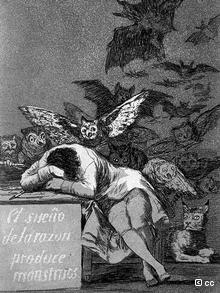 """Франциско Гоя, """"Сънят на разума ражда чудовища"""""""