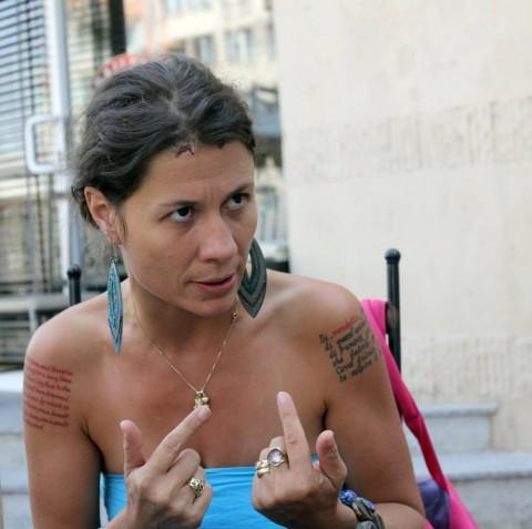 След 50 дни на улицата Елисавета не крие отчаянието си, но твърдо вярва, че протестът не бива да спира и ден