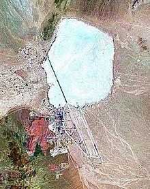 Спътникова снимка на Зона 51, направена около 2000 г.