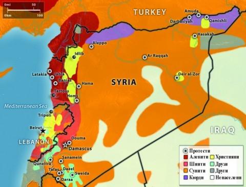 Религиозни и етнически малцинства в Сирия. Илюстрация: http://valentinfortunov.com