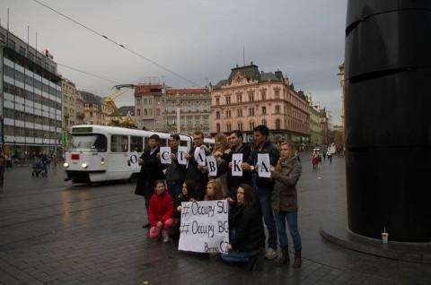 Символична подкрепа от български студенти в Бърно