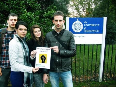 Подкрепа от Университета в Грийнуич