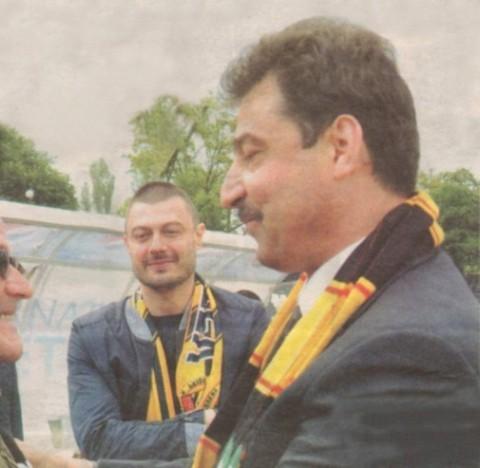Бареков и Цветан Василев. Снимка: pernik1.com