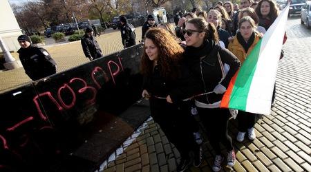Протест на студенти пред парламентаФотограф: Анелия Николова