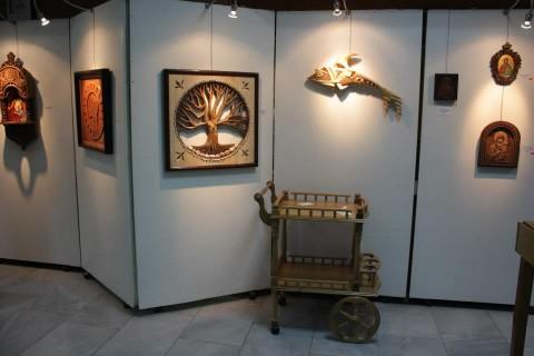 Творби на Н. Николов, показани на негова самостоятелна изложба в Пловдив през 2013 г.