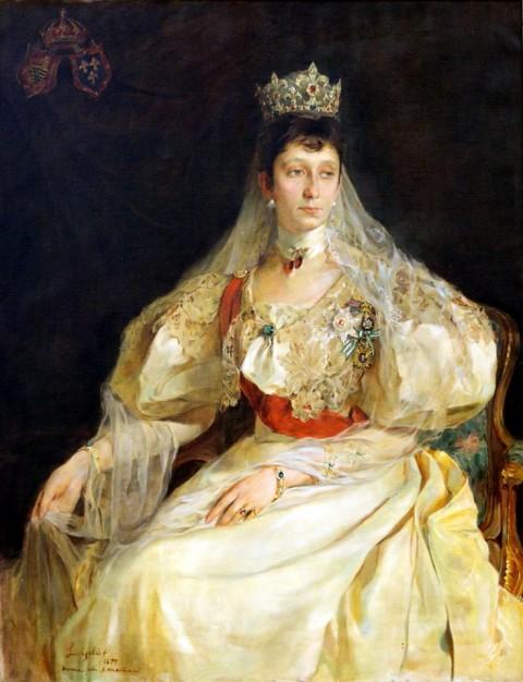 Портрет на княгиня Мария Луиза - първата съпруга на Фердинанд и майка на цар Борис III