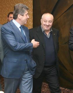 Георги Гергов с експрезидента Първанов. Снимка: Razkritia.com