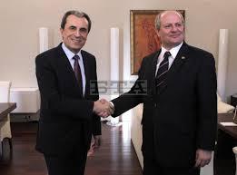 Българският премиер Орешарски и сръбският външен министър Иван Мъркич. София,