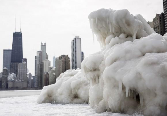 Студът и ледът отблизо. Снимка: AP/Andrew A. Nelles