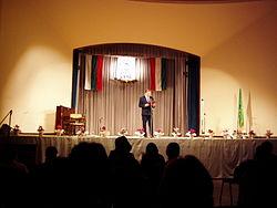 Тържество в залата на Дружество на българите в Унгария по време на месец на българската култура. Снимка: Уикипедия