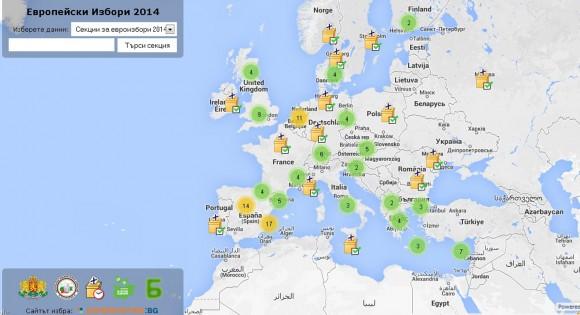 Част от картата, разработена от Боян Юруков