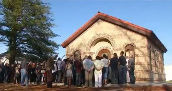 """Храмът """"Св. Георги"""" в деня на неговото освещаване"""