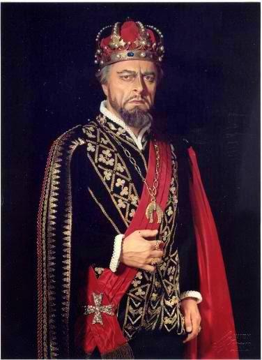 """Борис Христов в ролята на крал Филип в """"Дон Карлос"""" на Верди"""