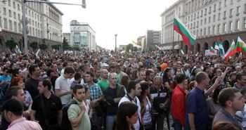 """Назначаването на Делян Пеевски за ръководител на ДАНС през юни миналата година доведе до масови граждански протести в страната. Снимка: Михаела Катеринска, в. """"Сега"""""""