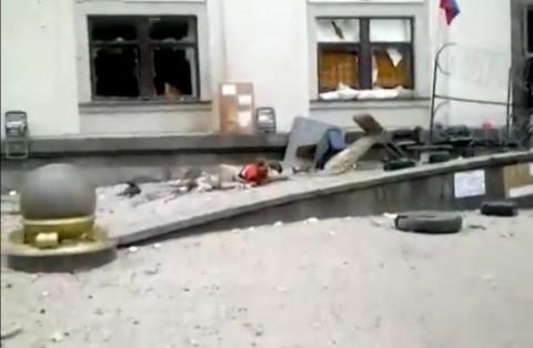 Снимка: скрийшот от видео, заснето след избухването на бомбата.