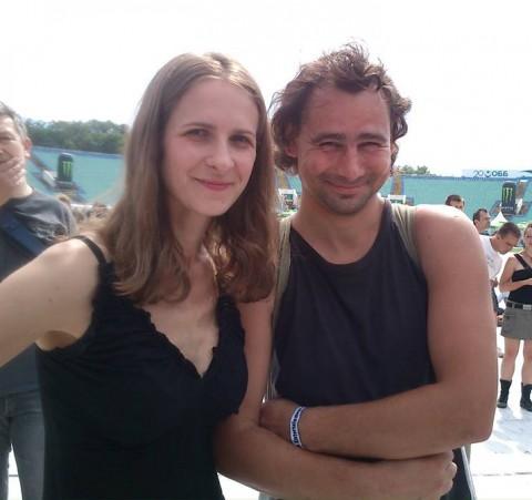 Стамен Илчев със съпругата си Мая Михайлова-Илчева, неговата съпруга Мая във времето, когато са щастливи заедно
