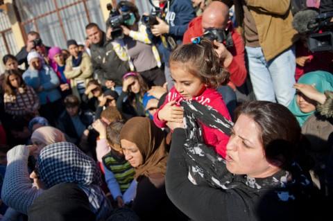 Бежанци. Снимка: БГНЕС