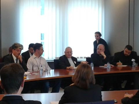"""Арехиепископ Сако на заседание на Делегацията за връзки с Ирак. Снимка: ПП """"ГЕРБ"""""""