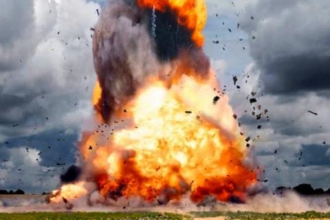 Взривът в с. Горни Лом, който отне живота на 15 души. Снимка: БГНЕС