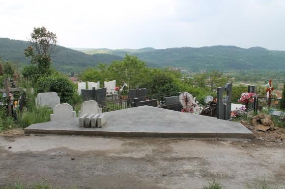 Поставената плоча за паметника на българските офицери
