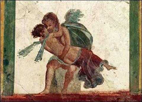 Ерос и Психея, стенопис от Помпей