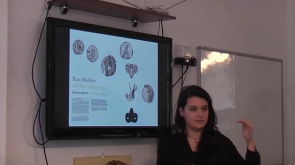 Момент от презентацията. Снимка: Скрийншот от видео на Българското училище към посолството ни в Лондон