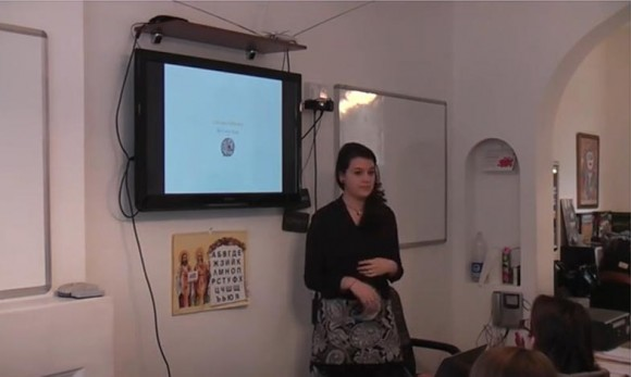 Пламена Момчева. Снимка: Скрийшот от видео на Българското училище към посолството в Лондон