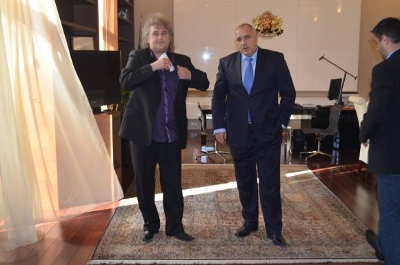 Кметът на Босилеград Захариев и българският премиер Борисов