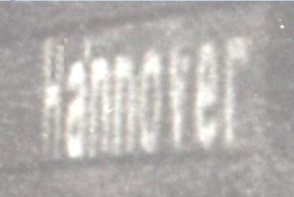 """Разчетеният надпис """"Хановер"""""""