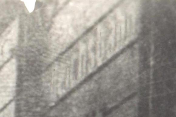 """Разчетеният надпис """"Deutsche Reichsbahn"""", увеличение на оригинала"""