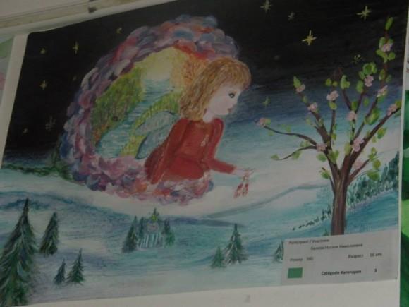 """Първа награда в конкурса """"Баба Марта 2015"""", в категорията 15-18-годишни. Рисунката е на 16-годишната Наталия Балева от Украйна."""