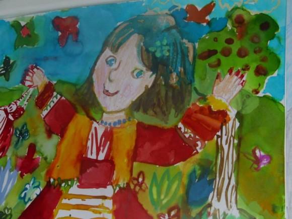 Първа награда в категорията 11-14-годишни. Десислава Ангелова, 11 год., от Чехия.