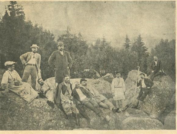 На 27 август 1895 г. на Черни връх, по покана и инициатива на Алеко Константинов, е учреден първият български туристически клуб. Снимка: Rocktravel.bg