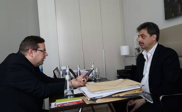 "Явор Дачков и Цветан Василев. Снимка: в. ""Гласове"""