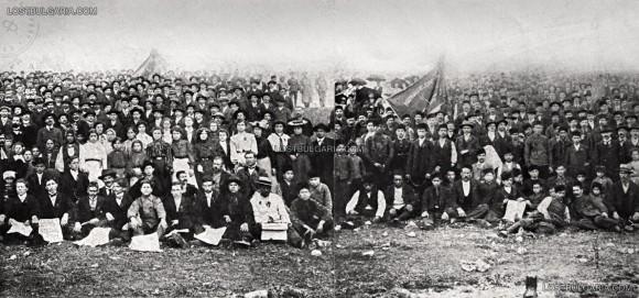 Първомайска манифестация в Сливен, 1905 г. Снимка: LostBulgaria.com