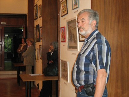 Чавдар Тепешанов на една от своите изложби