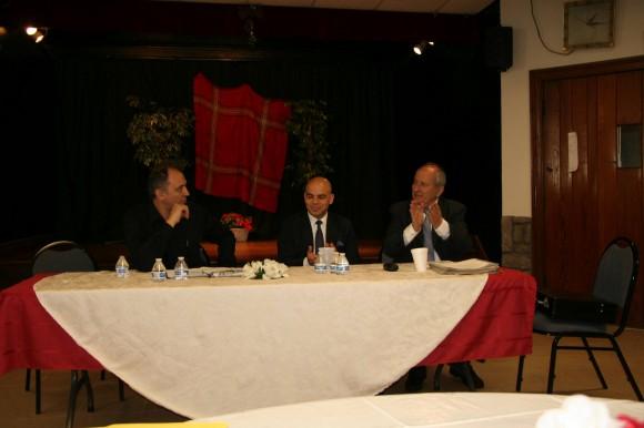 Петър Стаматов, Симеон Стоилов и проф. Никола Чаракчиев (отляво надясно) на сесията на БАА