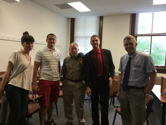 Алекс Алексиев и членове на Вашингтонския клуб