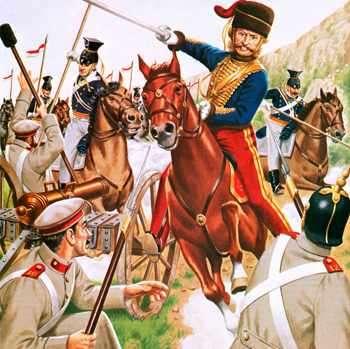 Lord Cardigan and the Charge of the Light Brigade, Balaclava 1854 г., по поемата на Тенисън