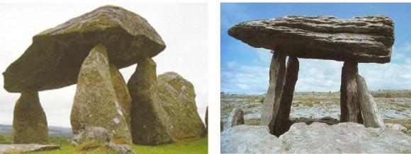 "Фиг.3. Примери за долмени тип ""маса"" - Западна Европа. Снимки [Cope 2004]"